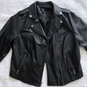 Torrid Black Faux Leather Motto Jacket
